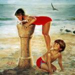 obrazek tapeta malarstwo rysunek Donald Zolan Beach Break