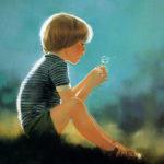 obrazek tapeta malarstwo rysunek Donald Zolan Eric And Dandelion