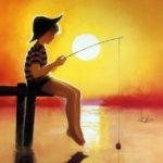 obrazek tapeta malarstwo rysunek Donald Zolan Gone Fishing